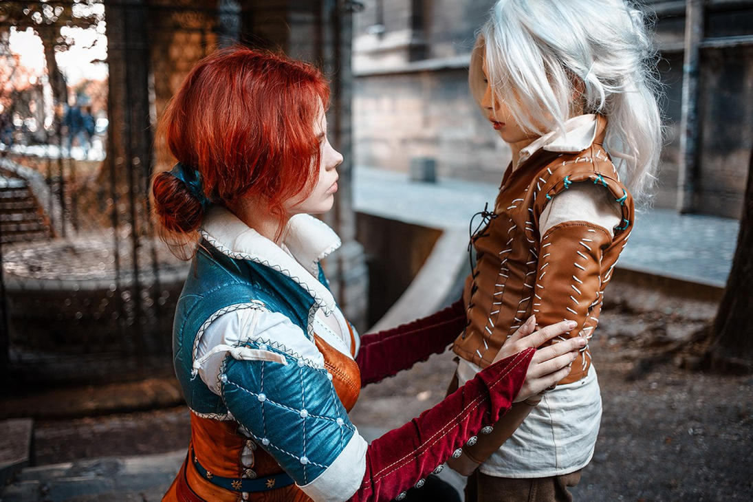 The Witcher - Triss and Cirilla by Fenyachan