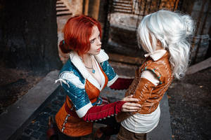 Triss and Ciri by fenixfatalist
