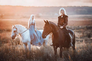 Daenerys and Viserys by fenixfatalist
