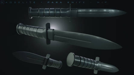 Para Knife - w.i.p. - highpoly game asset - by k