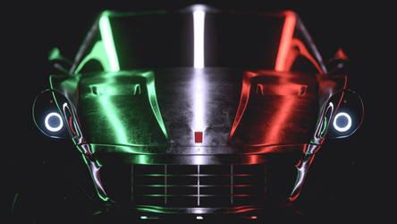 Ferrari 599 Italy - wallpapaer - Octane render C4D