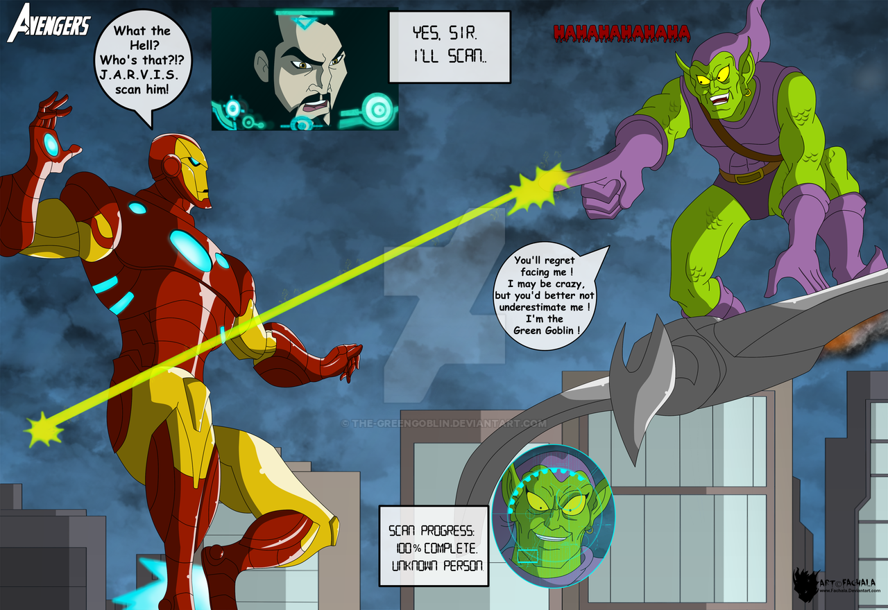Marvel -  Iron Man vs. Green Goblin by The-GreenGoblin