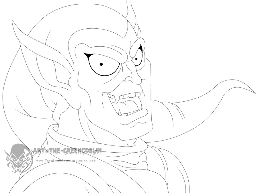 green goblin face coloring pages - photo#18