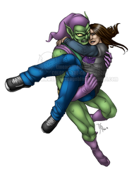 Collaboration - Rescued and Scared by The-GreenGoblin