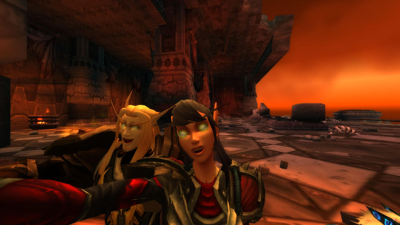 how to take a selfie in wow