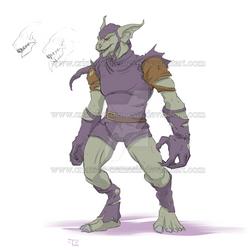 Monster Green Goblin design - by crimson-nemesis