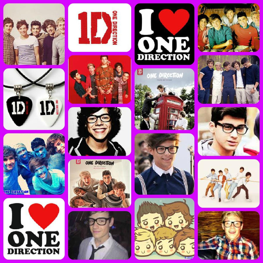 One Direction Collage Wallpaper 2014