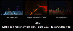 Terrible Puns. Terraria Players. by LittlewriterLink