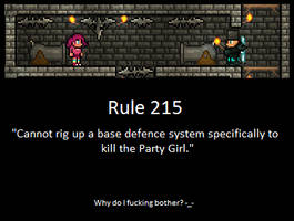 Rule 215. Terraria Players. by LittlewriterLink