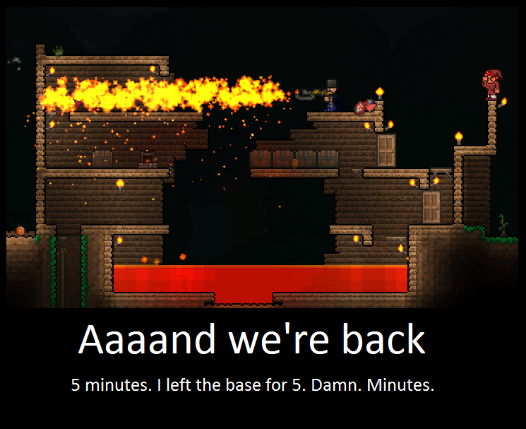 The Return Of The Original. Terraria Players. by LittlewriterLink