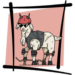 Goat On A Board