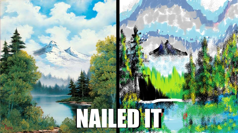 bob ross vs ms paint by link1ovaganon on deviantart