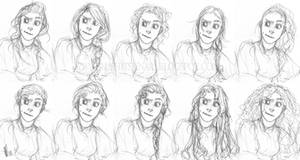 Hairstyles Sketch