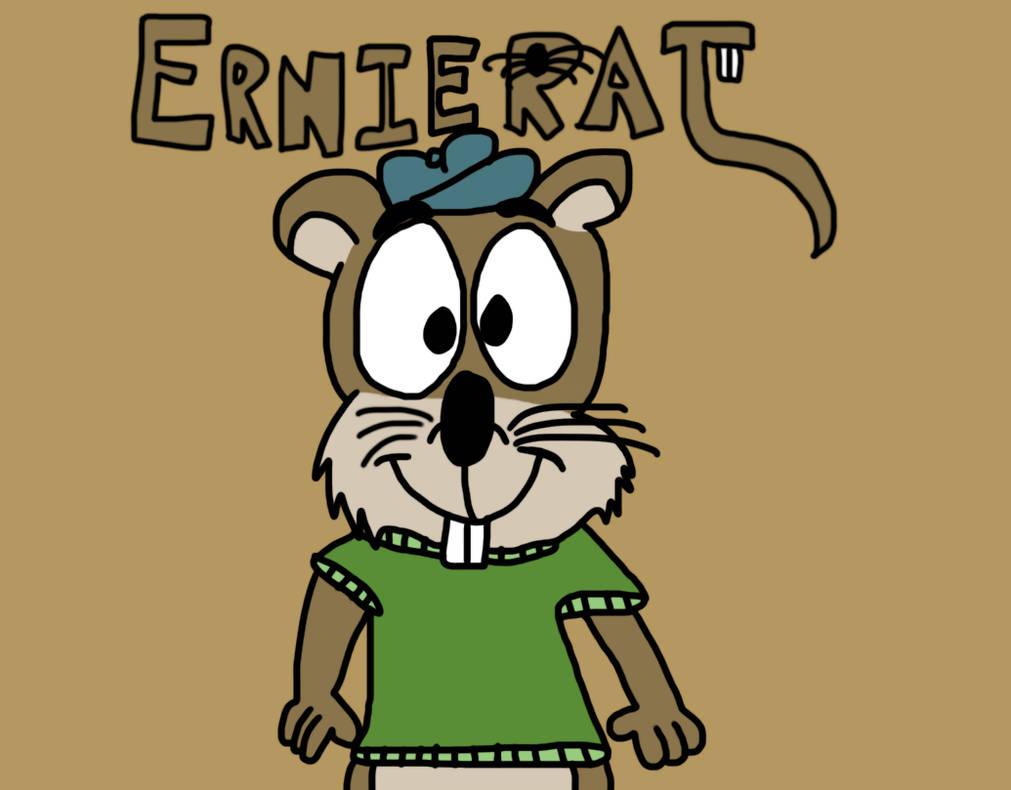 Ernie Rat Poster by BrendanDoesArt