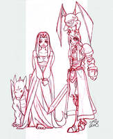 :sketch: FFT - Agrias and Reis by zeratanus
