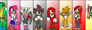 Sonic Characters Mural -pt. I-