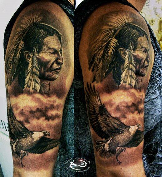 Native American By DallierTattoo On DeviantArt