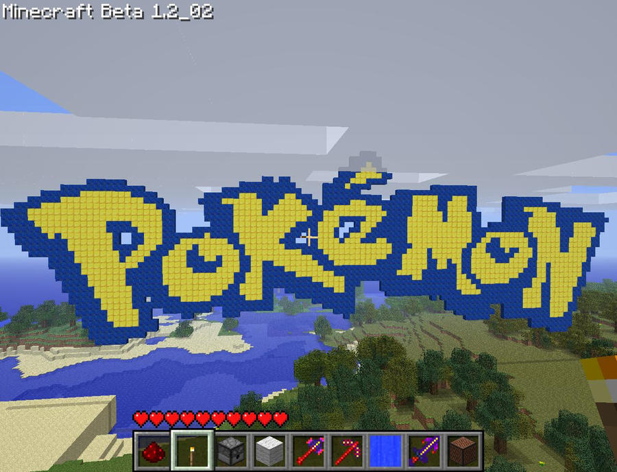 Pokemon Logo In Minecraft by AlexanderNB