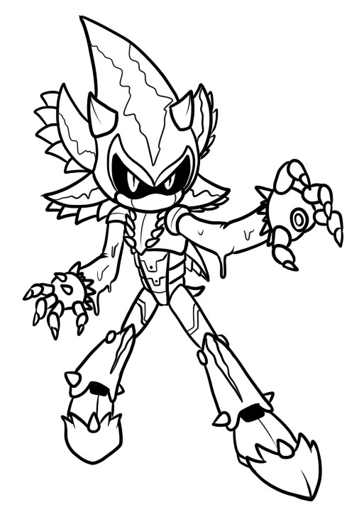 sonic mephiles coloring pages - photo#4