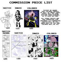 Commission Price List 2016
