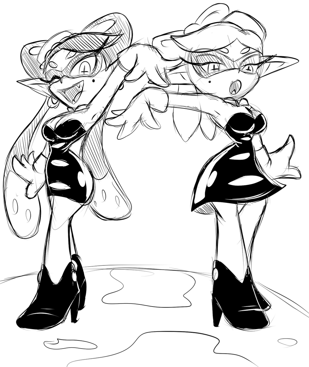 Squid Sisters Doodle by ChaosCroc