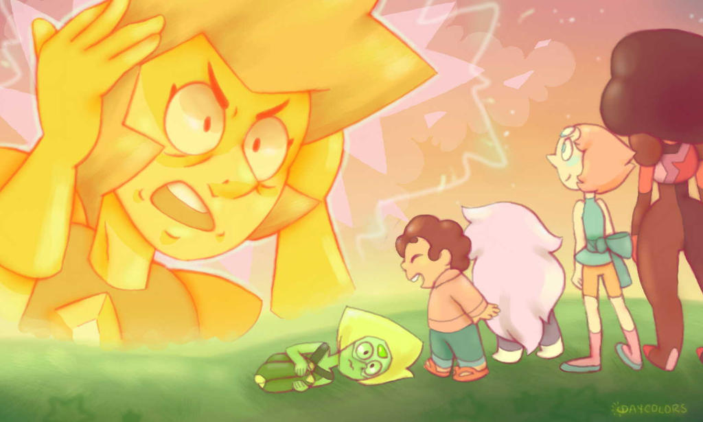 Yellow Diamond loses her cool xD Whoa though I can't believe Peridot is a Crystal gem now! It's so awesome aah, I'm really curious about tomorrow's episode now Yellow diamond is so tall though--