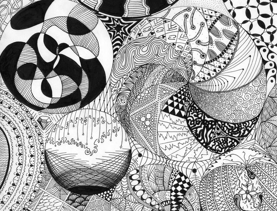 birthday zentangle by benergee