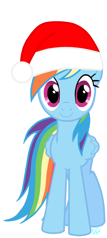 Christmas Rainbow Dash by Quillyfox on DeviantArt