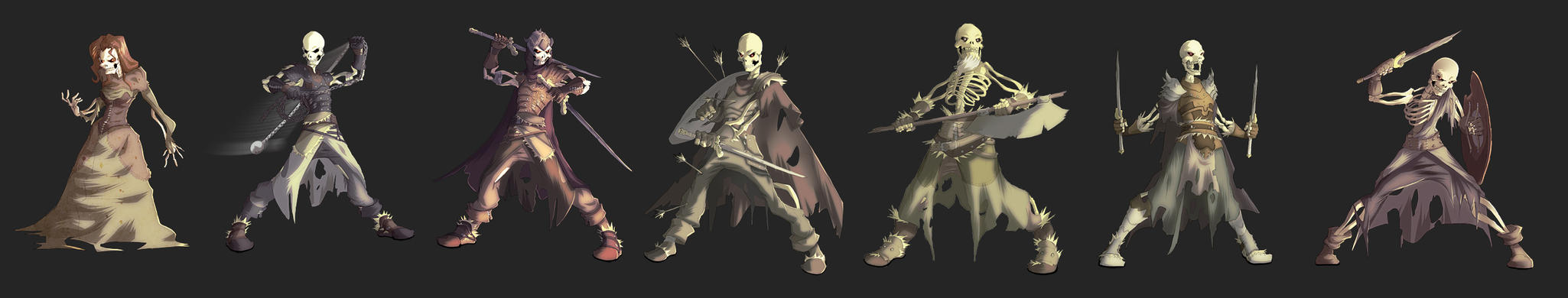 skeletons concept by MoonFX