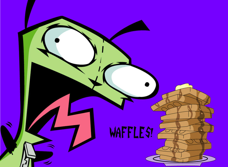 Gir and waffles wallpaper gir and a plate of waffles by
