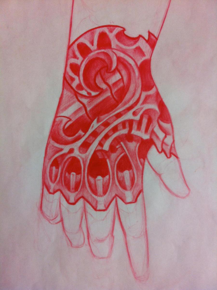 Biomechanical hand tattoo by tricomiart on deviantart for Biomechanical hand tattoo designs