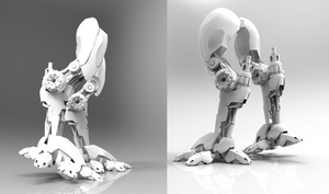 legs of mech tutorial - back and side view.