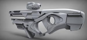 Sci-fi weapon quicksculpt