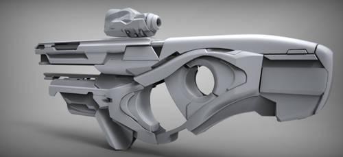 Sci-fi weapon quicksculpt by Chofni1996