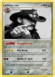 Lemmy Kilmister Pokemon Card by LemmyIsMyGod