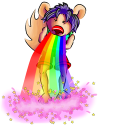 Puking rainbow by keskisan