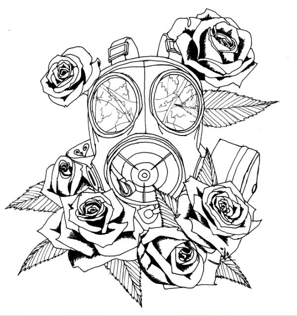 Gas Mask Quotes. QuotesGram Gas Mask Tattoo Sketch