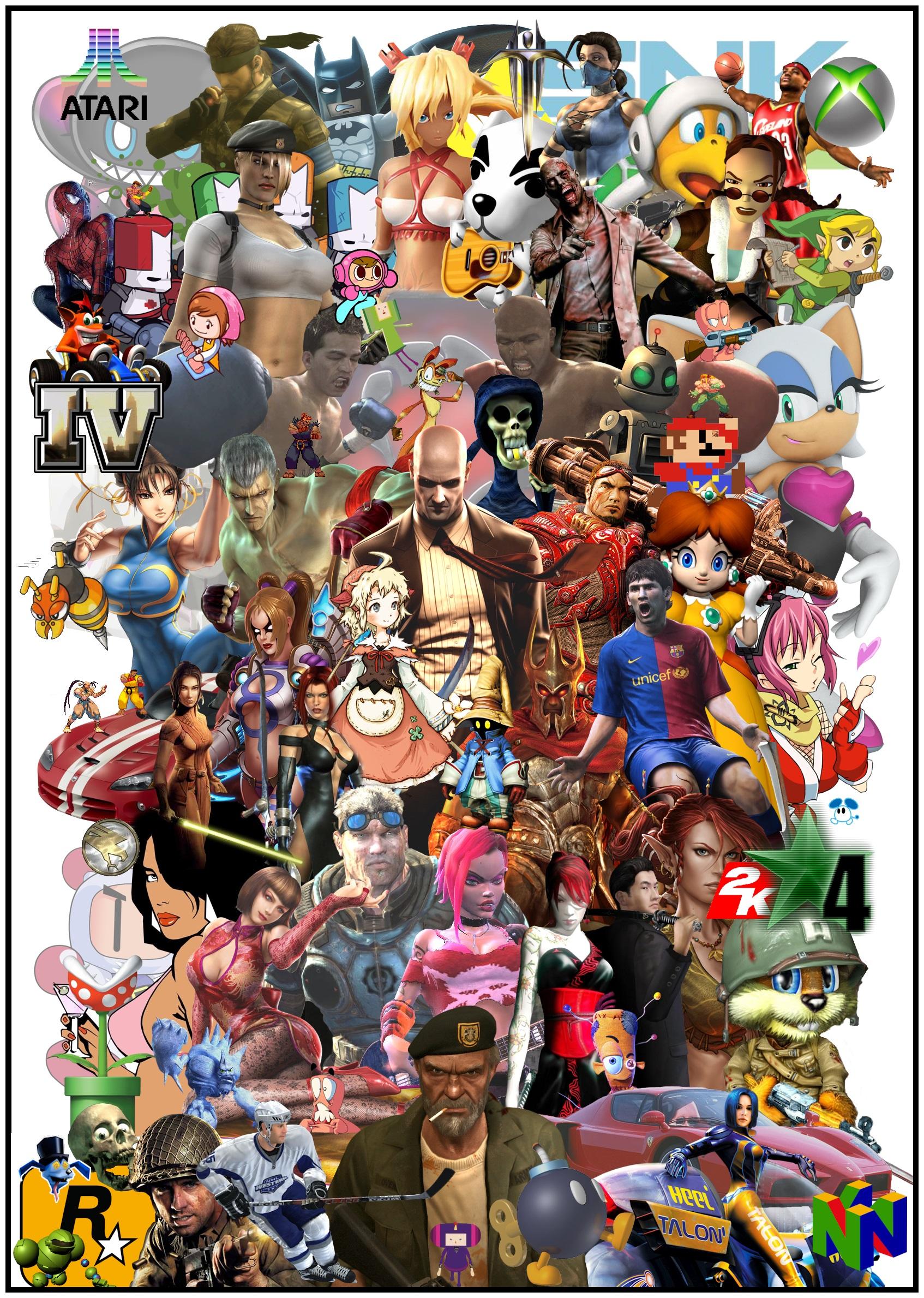 Video Game Collage 04 by RazielsFateK87 on DeviantArt