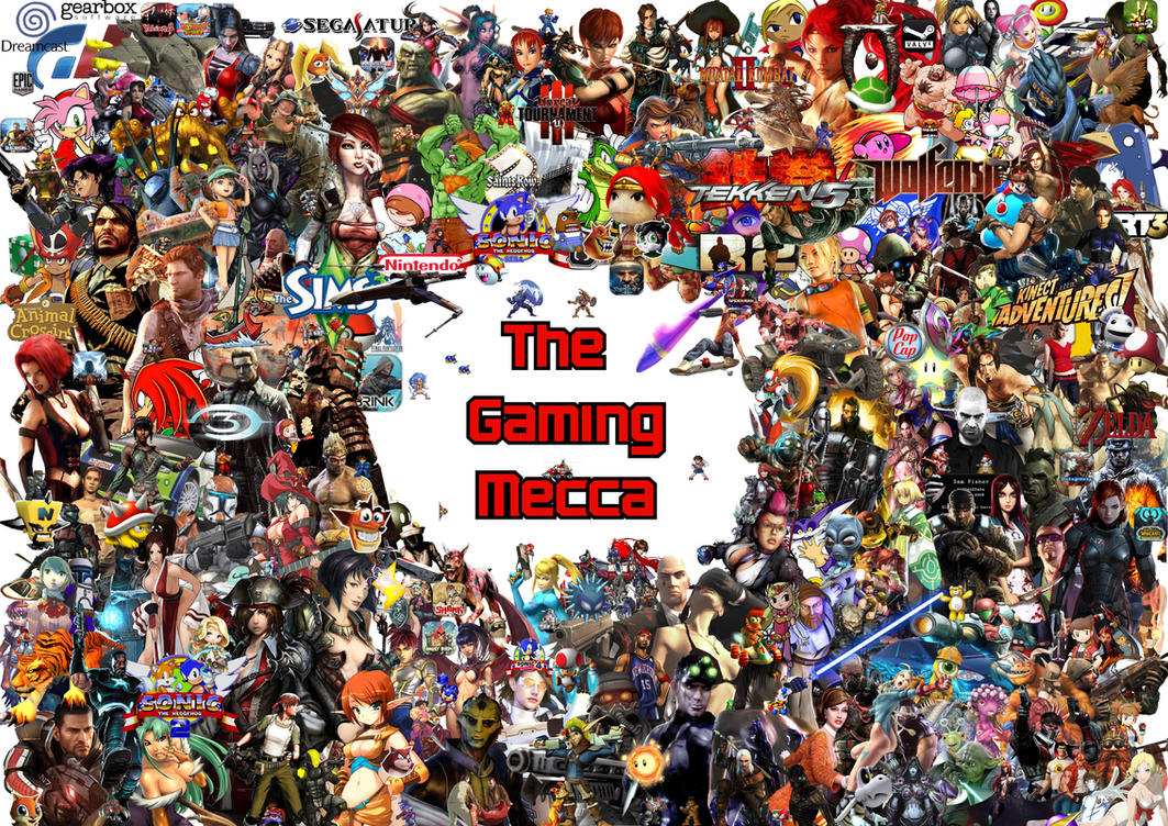 video game collage 06 gaming mecca by razielsfatek87 on