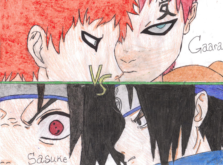 Gaara Vs. Sasuke by Dark-Emo-Raven on DeviantArt