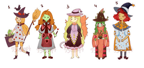 Witches Adoptable auction [OPEN] by PjlinaTheSilense
