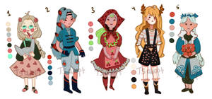 Village Girls Adoptable auction [CLOSED]