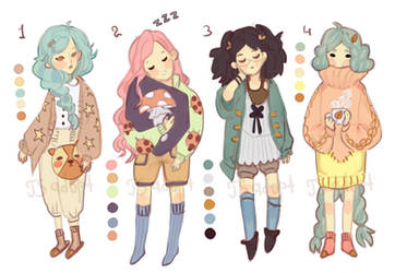 Sleeping girls Adoptable auction [CLOSED] by PjlinaTheSilense