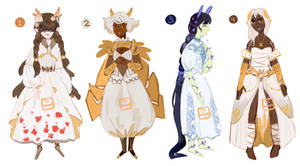 White dresses adoptable auction [CLOSED]