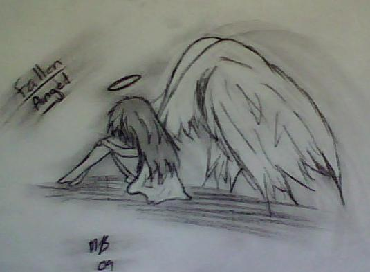Fallen angelhand drawn by shiver1224 on deviantart fallen angelhand drawn by shiver1224 thecheapjerseys Choice Image
