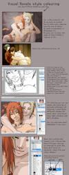 Visual novel coloring tutorial by Puffsan