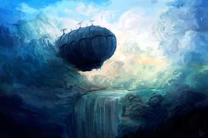Digital painting: 'Zeppelin in the Sky' by dallidallsen