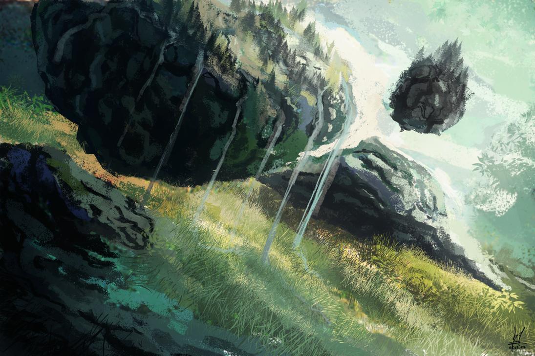 Floating Lands by dallidallsen