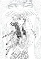 Ceremonial dress - lineart by Tori-Fan