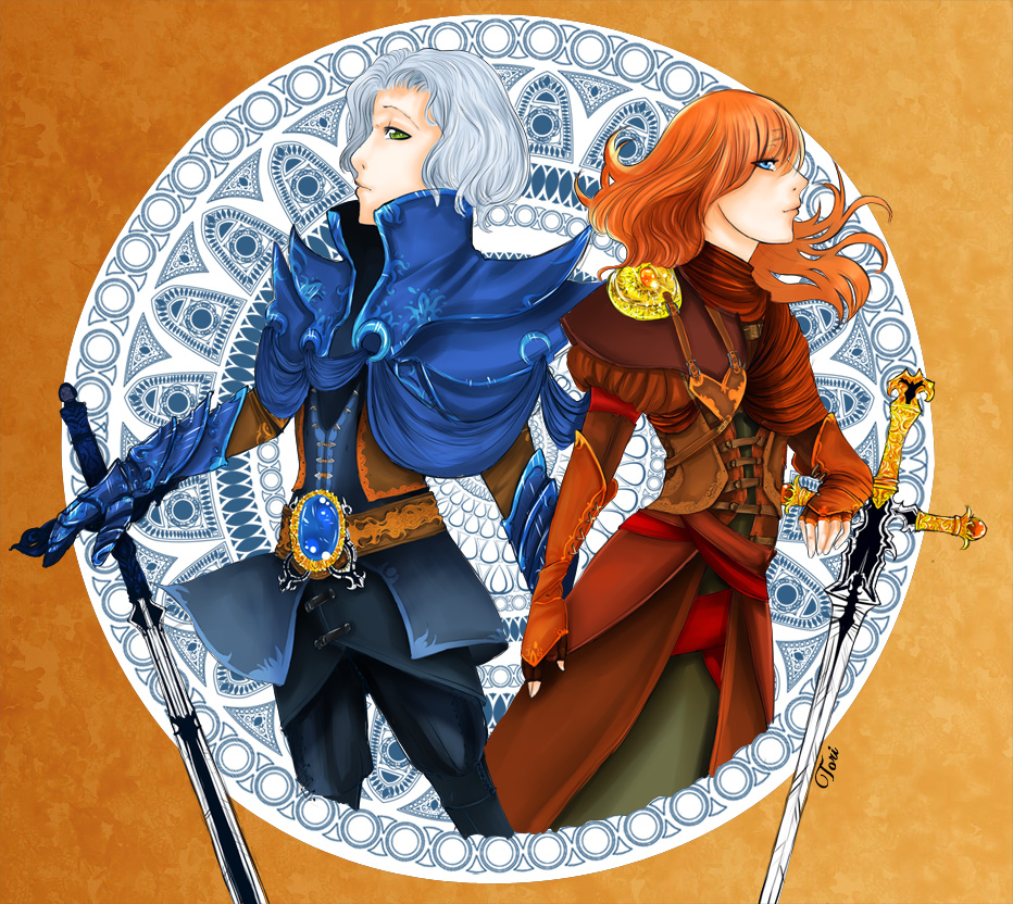 Terranigma - Dheni and Kalou by Tori-Fan